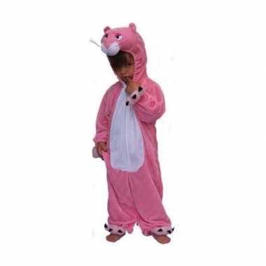 Roze panter kostuum kinderen voor carnaval