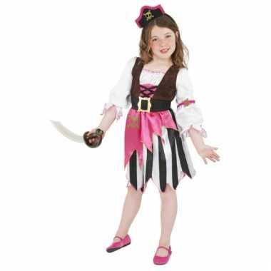 Roze piraten kostuum voor meisjes carnaval