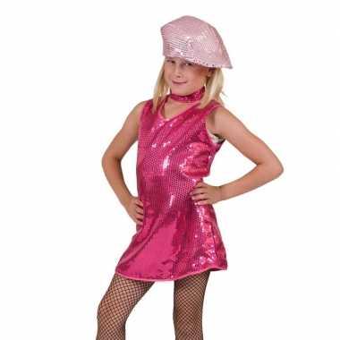 Roze showgirl jurk voor meisjes carnaval