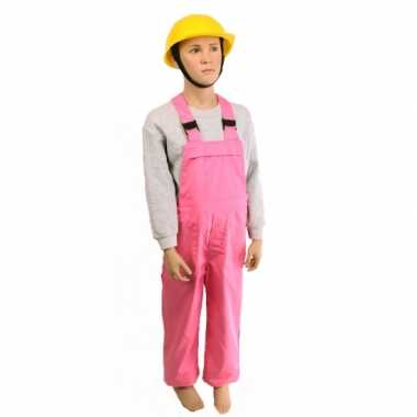Roze tuinbroek voor kinderen carnaval