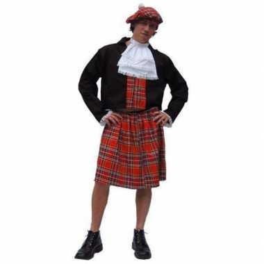 Schotse kilt kostuum voor carnaval