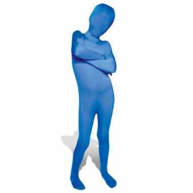 Secon skin kinder kostuum blauw voor carnaval