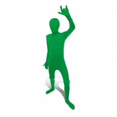 Secon skin kinder kostuum groen voor carnaval