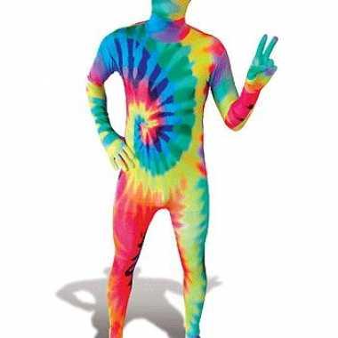 Second skin pak Tie-Dye voor carnaval