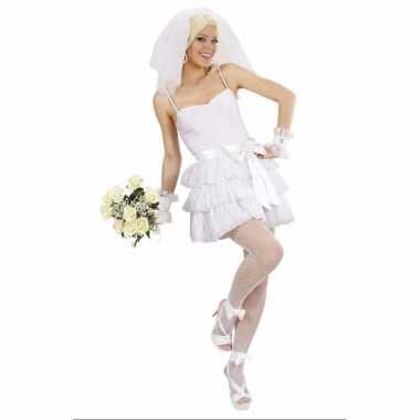 Sexy bruidsjurk verkleedkleding voor carnaval