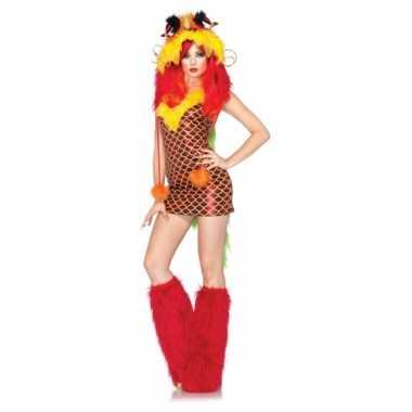 Sexy verkleedkleding draken jurkje voor carnaval