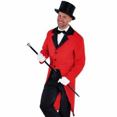 Slipjas rood met bijpassende hoed maat l voor carnaval