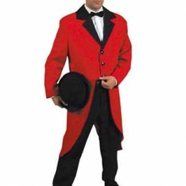 Slipjas rood voor dames en heren carnaval