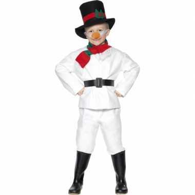 Sneeuwman kinder kostuum voor carnaval