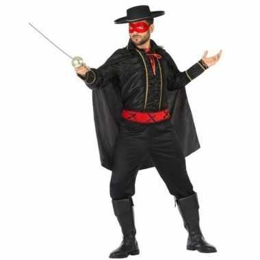 Spaanse held zwart/rood verkleed kostuum voor heren carnaval