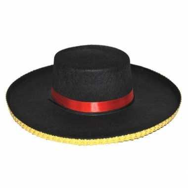 Spaanse verkleed hoeden antonio voor heren carnaval