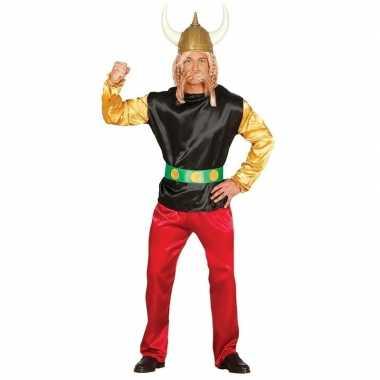 Stripfiguur verkleed kostuum gallier voor carnaval
