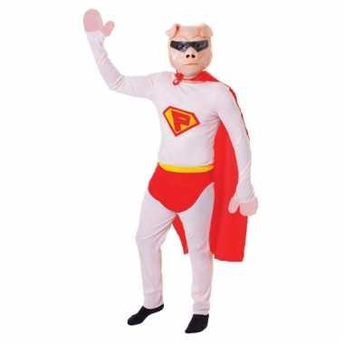 Super varken verkleed kostuum voor carnaval