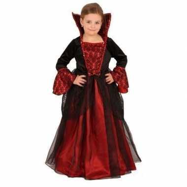 Vampier kinderjuk rood met zwart voor carnaval