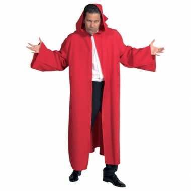 Venetiaanse cape rood voor carnaval