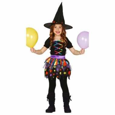 Verkleed jurk heks voor meisjes carnaval