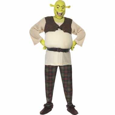 Verkleed kleding Schrek voor heren carnaval