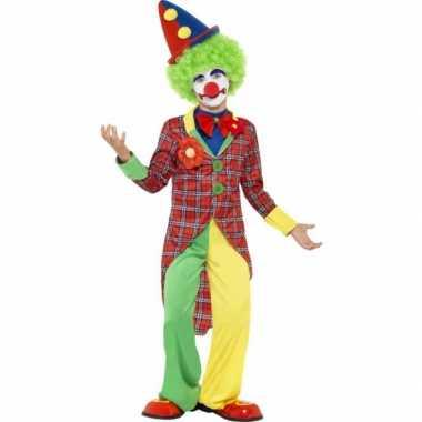 Verkleed outfit clown voor kinderen carnaval