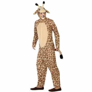 Verkleedkleding giraf voor heren/dames carnaval