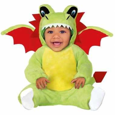 Verkleedkleding groene draak kostuum voor babys/peuters carnaval