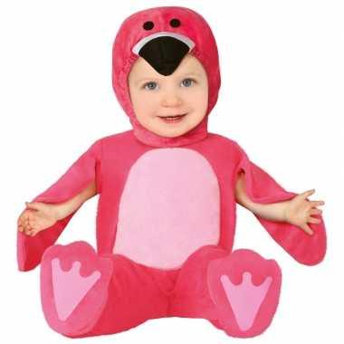 Verkleedkleding roze flamingo kostuum voor babys/peuters carnaval