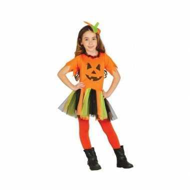 Verkleedkleding voor kinderen pompoen jurkje carnaval