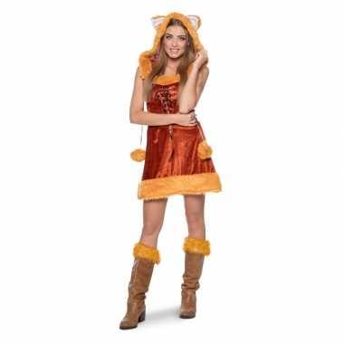 Vos dieren verkleedkleding voor dames carnaval