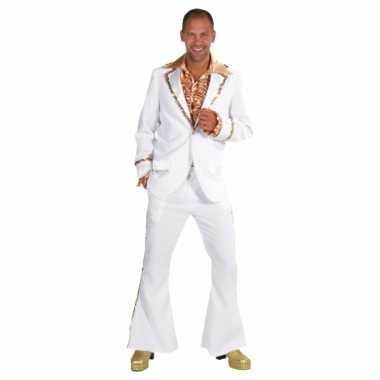 Wit seventies kostuum heren voor carnaval