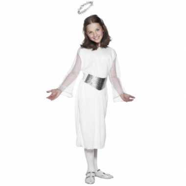 Witte engelen jurk voor kinderen carnaval