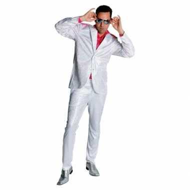Witte glitter kleding voor heren carnaval