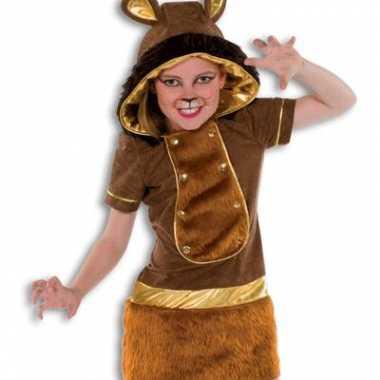 Zachte pluche leeuw kostuum meisjes voor carnaval