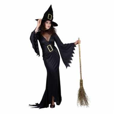 Zarte heksen outfit dames voor carnaval
