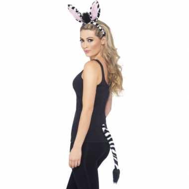 Zebra verkleed setje voor volwassenen carnaval