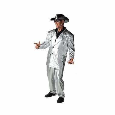 Zilveren verkleed kleding voor carnaval