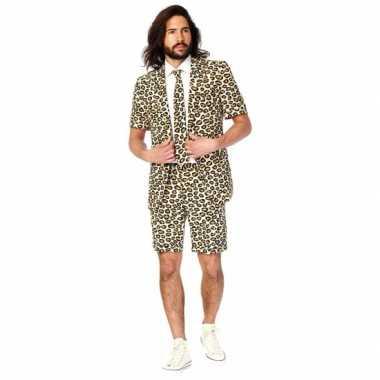Zomer pak jaguar print voor heren carnaval