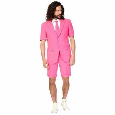 Zomer pak roze voor heren carnaval