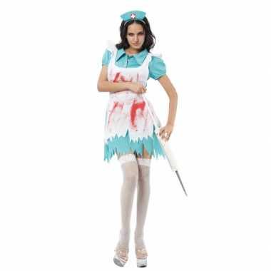 Zuster kostuum met bloedspetters voor carnaval