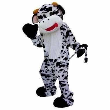 Zwart met wit koeien pak voor carnaval