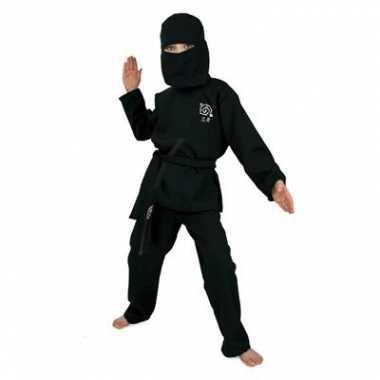 Zwart Ninja kostuum voor kids carnaval