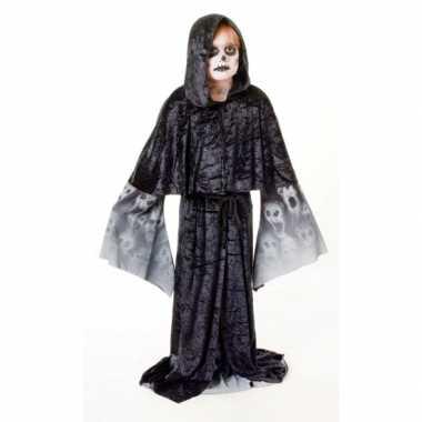 Zwarte gothic gewaad voor jongens carnaval