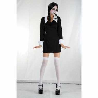 Zwarte Wednesday jurk voor meiden carnaval