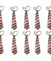 10x regenboog carnavals stropdas