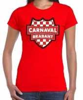 Carnaval verkleed t-shirt brabant rood voor voor dames