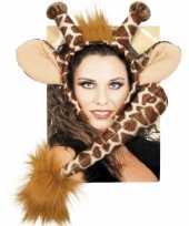 Giraffe verkleed setje voor volwassenen