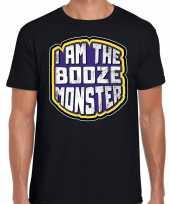 Halloween booze monster verkleed t-shirt zwart voor heren