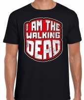 Halloween walking dead verkleed t-shirt zwart voor heren