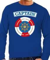Kapitein captain verkleed sweater blauw voor heren