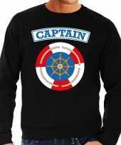 Kapitein captain verkleed sweater zwart voor heren
