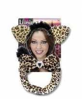 Luipaarden verkleed setje voor volwassenen