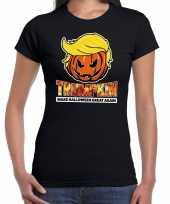 Trumpkin make halloween great again t-shirt zwart voor dames